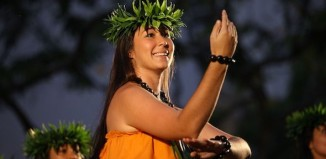 Hula dancer performing