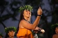 Hula dancer performing