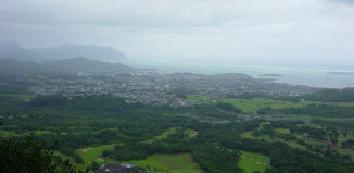 View of Oahu's East Side From the Pali Lookout