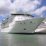 Cruise ship docked in Hawaii