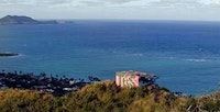 View of the Lanikai Pillboxes Overlooking Oahu's East Side