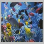 Mural of underwater sea creatures