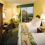 Double beds at Waikiki Marriott Resort