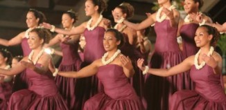 Hula dancers perform at the Merrie Monarch Festival