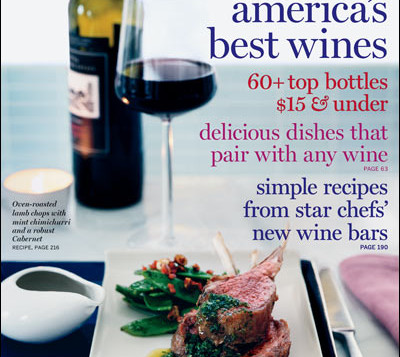 Magazine cover of Food and Wine