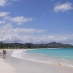 Beautiful sand beach and blue water in Kailua on Oahu