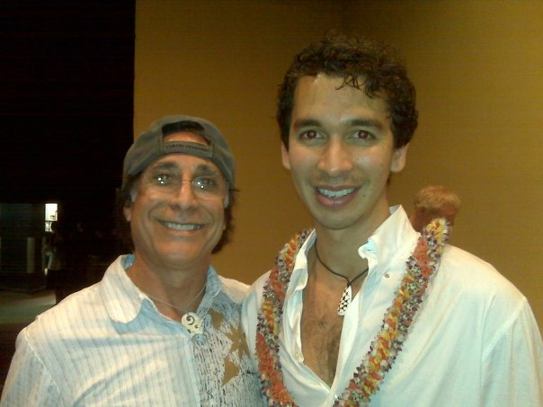 Makana and Bruce Fisher posing together