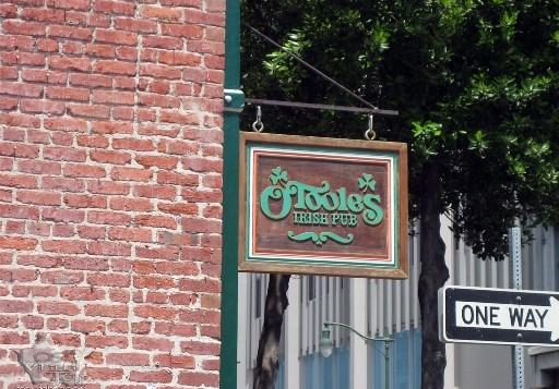 The sign above the door at O'Tooles Irish Pub