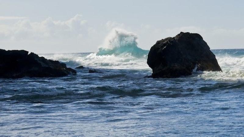 Rare views on Kauai Island in Hawaii