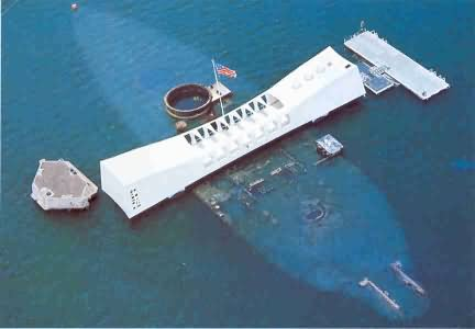 Pearl Harbor view from above