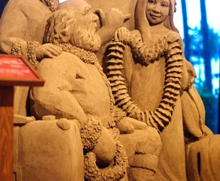 Family made out of sand