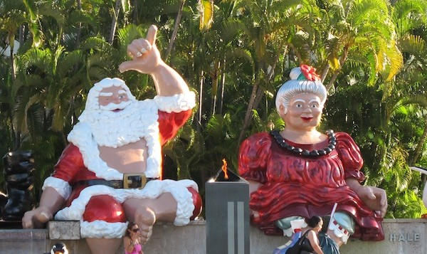 Santa and Mrs Claus sitting