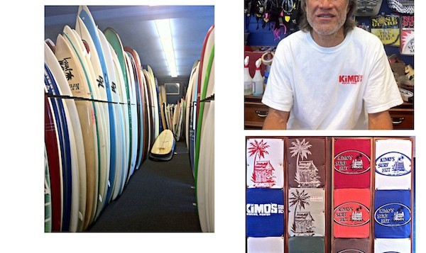 Surf boards collage
