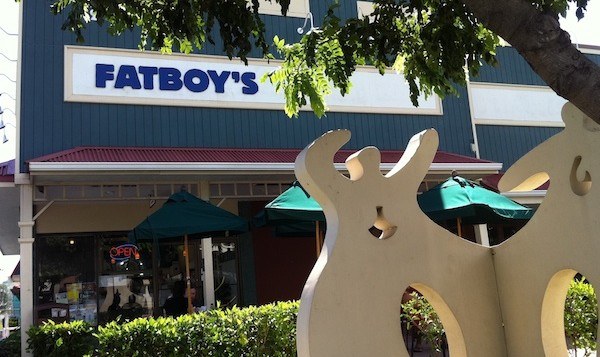 Fatboys resturant storefront in Kailua