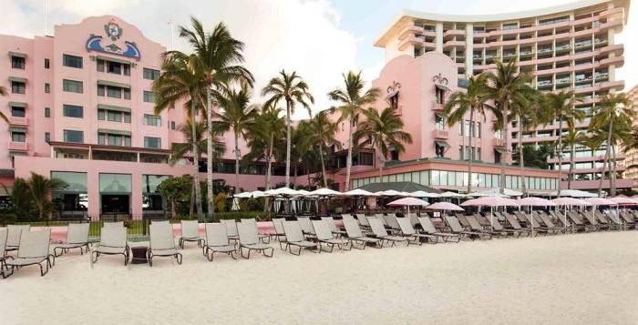 The Royal Hawaiian Hotel from the beach