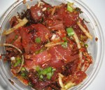 Bowl of fresh ahi poke with spices