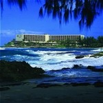 View of Turtle Bay Resort from Stables Beach