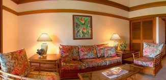 Living room at Castle Kiahuna Plantation Beach Bungalows