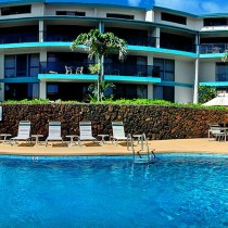 Exterior shot of pool and property at the Castle Makahuena at Poipu