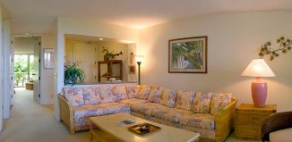 Living room at Cliffs at Princeville
