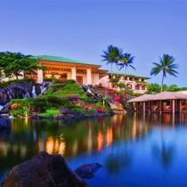 Hyatt Kauai Resort and Spa at night