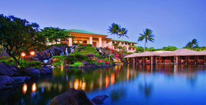 Hyatt Kauai Resort and Spa at night
