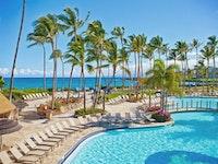 View of the pool at the Hilton Waikialoa Village
