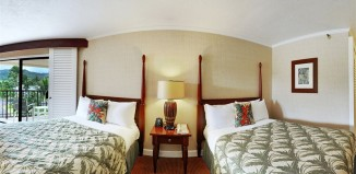 Double bed room at the Kauai Beach Resort