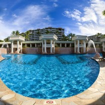 A pool at Kauai Marriot