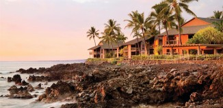 The rocky coast at Kanaloa