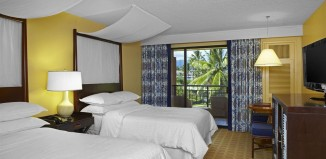 Double bed room at Sheraton Kauai Resort