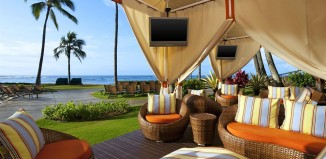 Beachside cabana at the Sheraton Kauai Resort