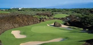 A golf fairway at the Islands at Mauna Lani