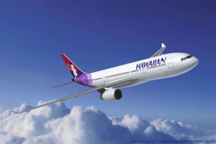 New Menu on Hawaiian Airlines