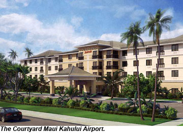 The exterior of the Courtyard Maui Kahului Airport