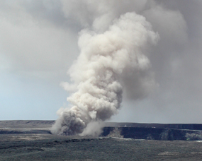 A plume of smoke from Kilauea
