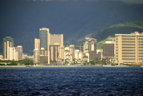 Waikiki hotels from across the water