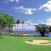 A Golf bunker on Lanai