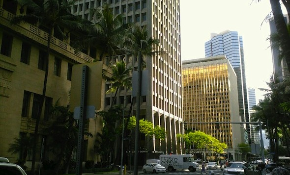 Somewhere in downtown Honolulu