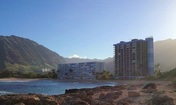 2 hotels on the Makaha shore