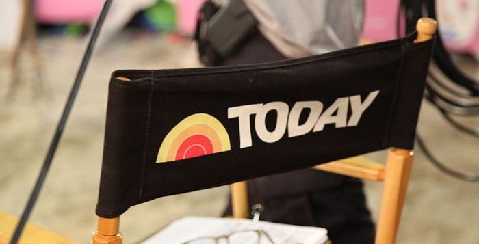Black chair with Today Show logo