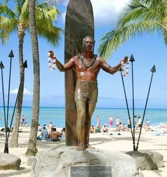 Statue of Duke Kahanamku in Waikiki