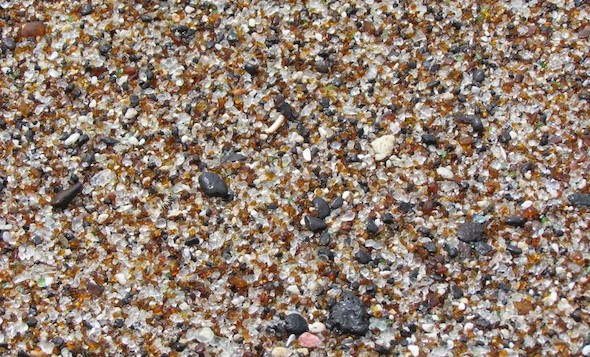 A close up of the fine grains of Kauai sand beach