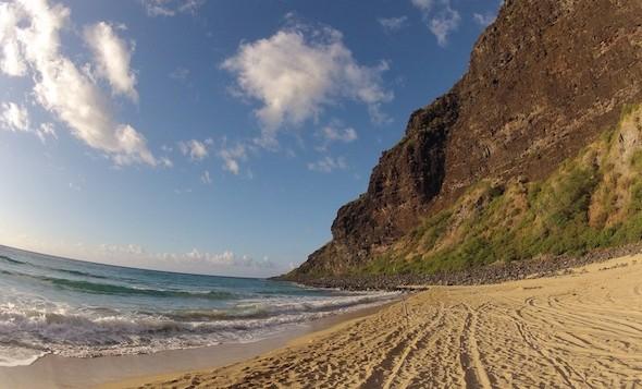 A nice sand beach