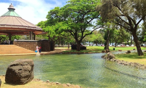 The bandstand at Kapiolani Park