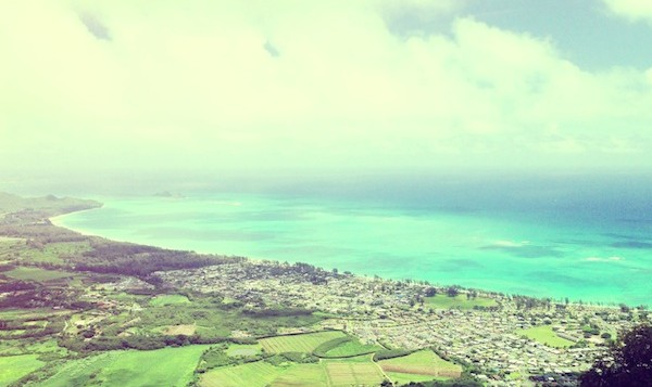 Aerial view of Waimanalo