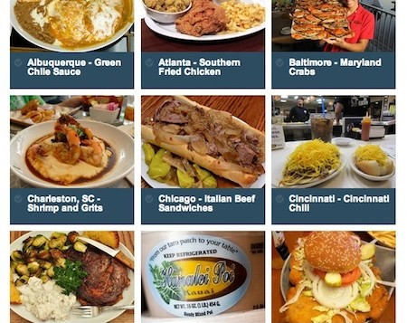List of iconic American foods by City