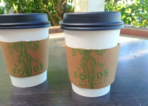 2 styrofoam coffee cups
