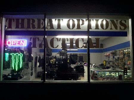 The front of Threat Options Tactical
