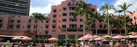 view of the Royal Hawaiian Hotel form the behind the property used for All Inclusive Oahu package